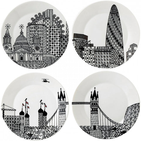 London Calling Side Plates 22cm (Set of 4)