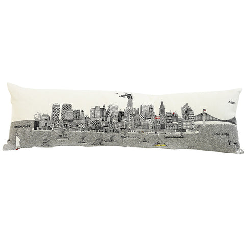 New York By Day 120cm White Linen