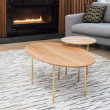 Saxe nesting table - White Oval