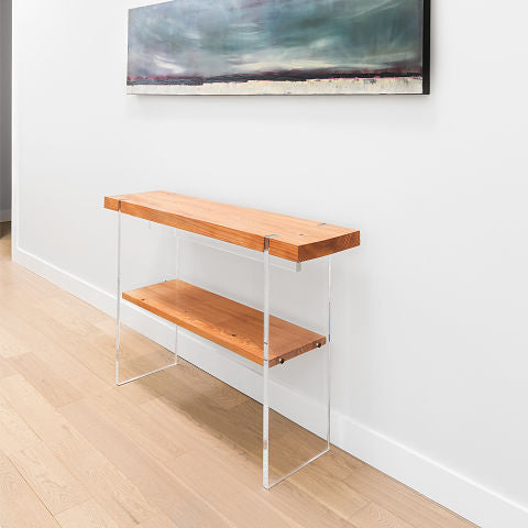 Tillikum console - Natural (with shelf)