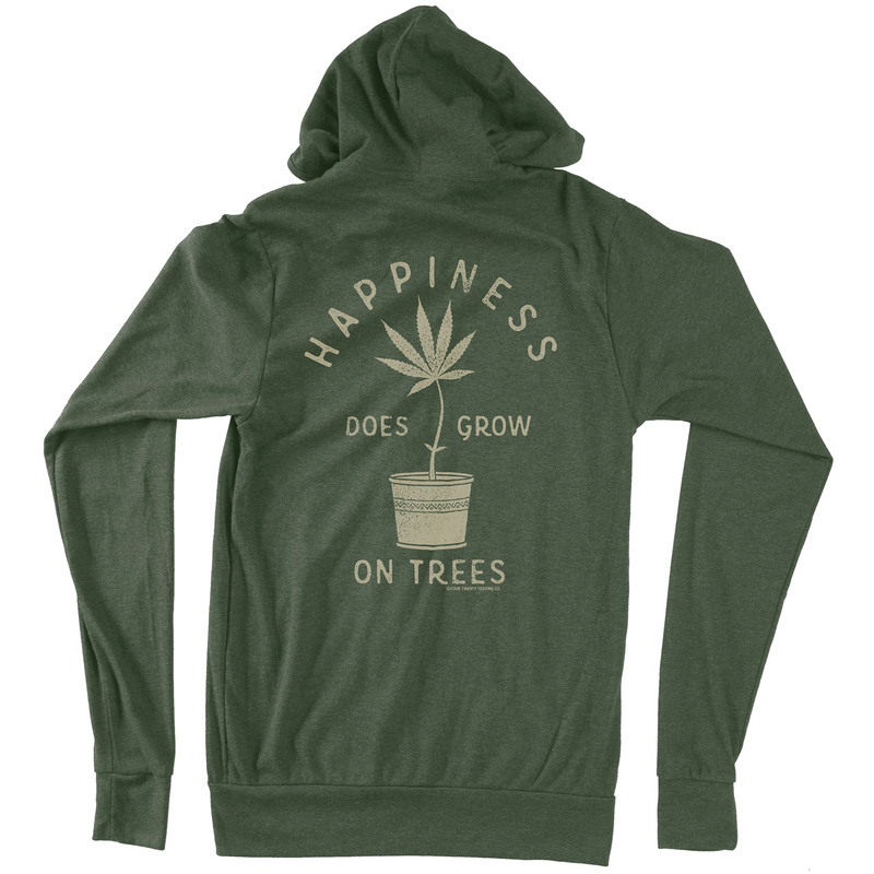 Happy Tree Black Hoodie