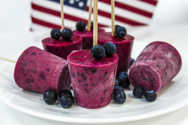 4th of July Blueberry Pomegranate Popsicles! 🇺🇸
