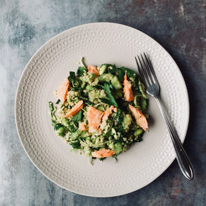 Green Goddess Quinoa Salad with Ocean Trout