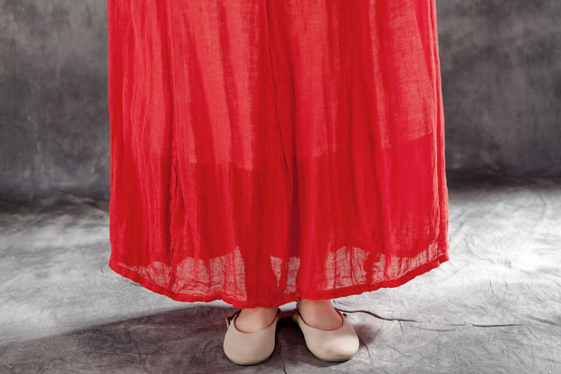 Casual Women Drawstring Ankle Length Lining Skirts