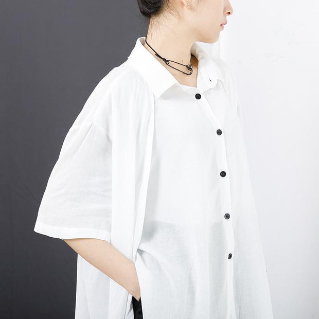 Double Layer Solid Color High Low Hem Shirt