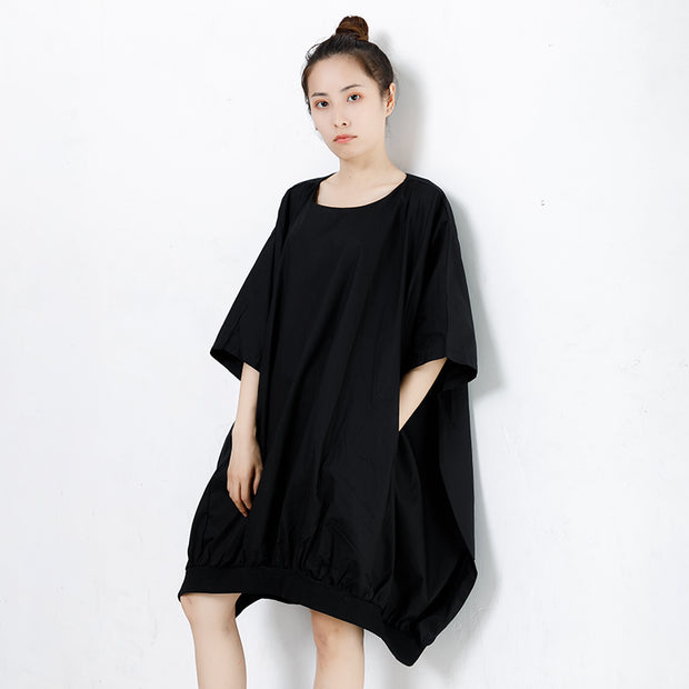 Pure Solid Loose Comfortable Women' Dress