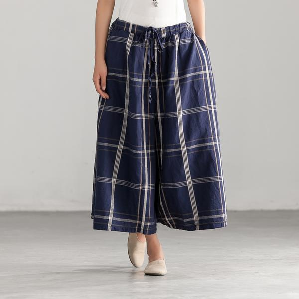 Loose Lattice Casual String Wide Leg Pants