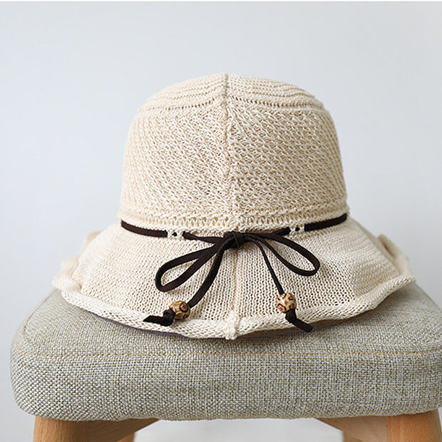 Women Casual Fashion Solid Bow Hat