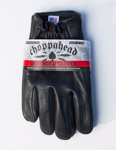 "Choppahead Kevlar-Lined ""Defender"" Gloves (Women's) - Black"