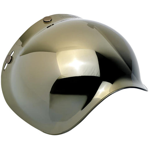 Biltwell Bubble Shield - Gold Mirror - New Anti-Fog!
