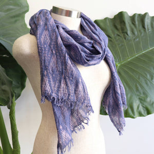 In The Atmosphere 100% cotton Scarf  - Evening Sky Blue.