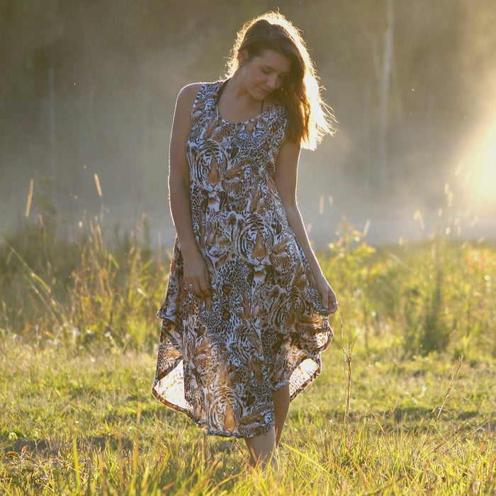 The Ideal Sun Dress - Animal Print