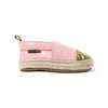 soft pink with glitter toe espadrille side Pretty Brave baby shoes