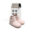 dusky pink snow boot pair Pretty Brave baby shoes