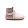 dusky pink snow boot side Pretty Brave baby shoes