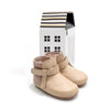 natural snow boot pair Pretty Brave baby shoes