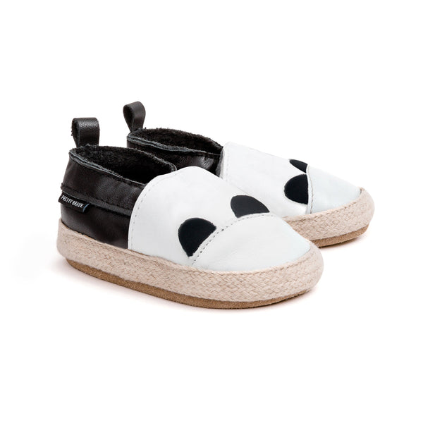panda espadrille pair Pretty Brave baby shoes