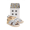 wild spots criss cross sandal box Pretty Brave baby shoes for boy