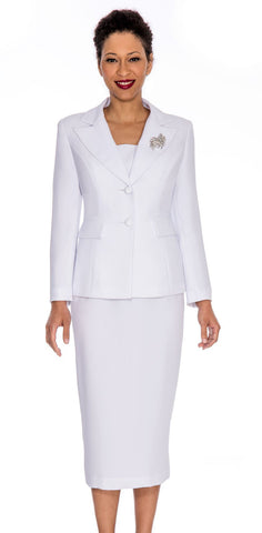 Giovanna Usher Suit 0710-White - Church Suits For Less