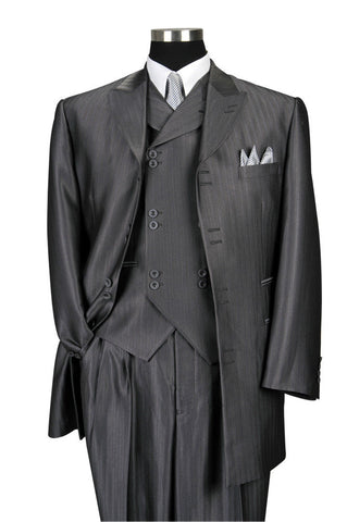 Milano Moda Men Suit 5264VC-Grey