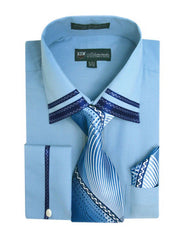 Milano Moda Shirt SG-28-Blue - Church Suits For Less