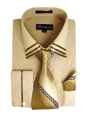 Milano Moda Shirt SG-28-Khaki - Church Suits For Less