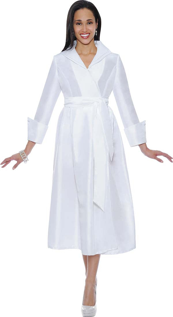 Nubiano Dresses 5371-White - Church Suits For Less