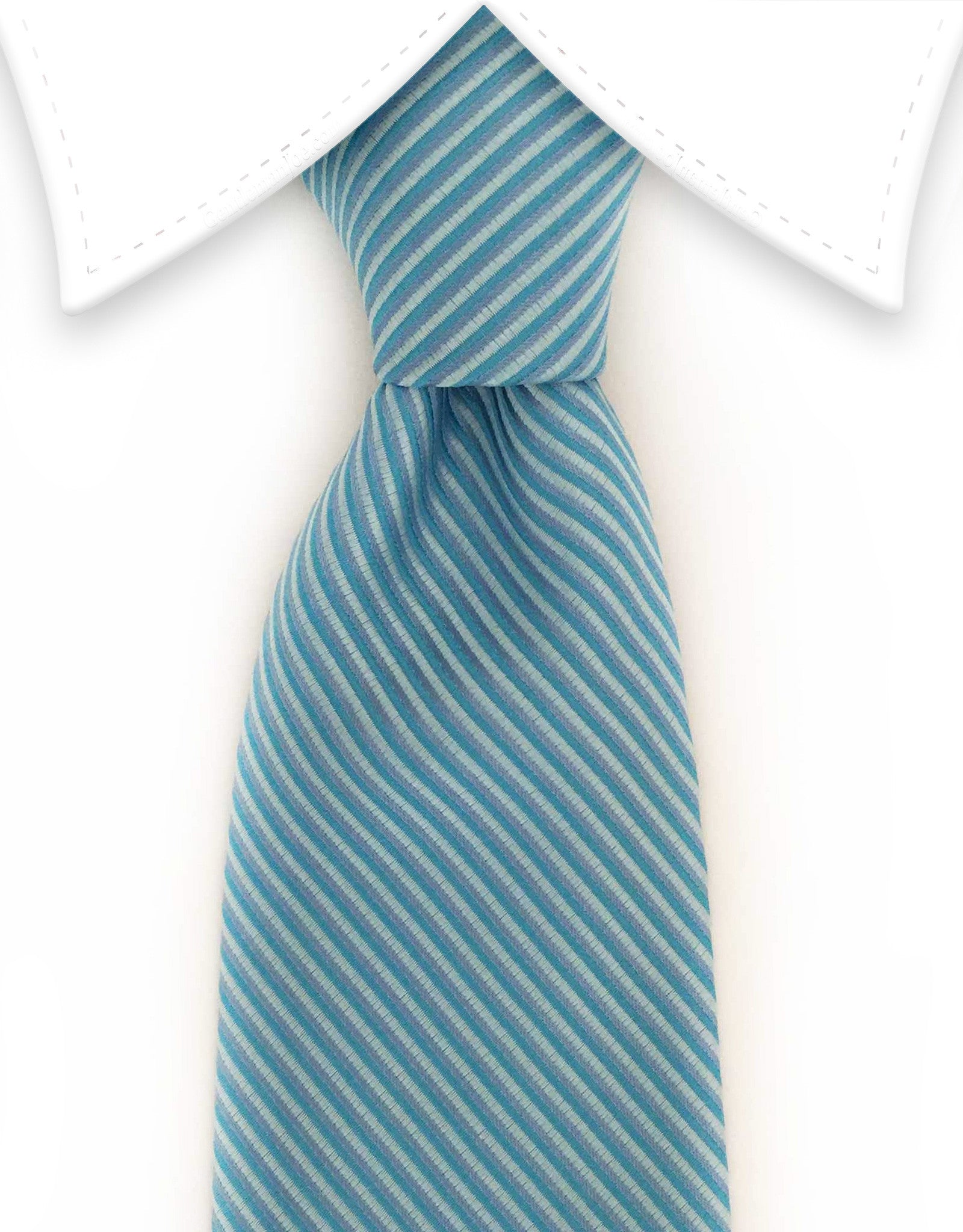 light blue striped tie
