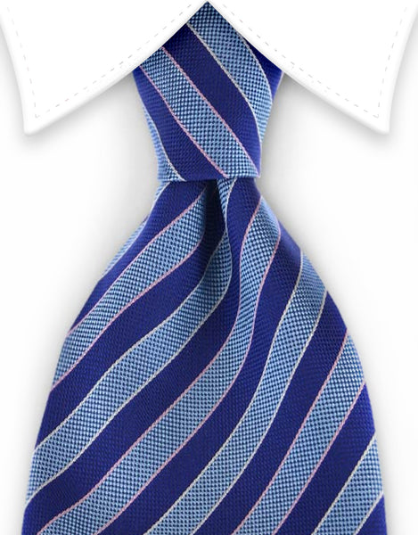 aqua navy striped tie