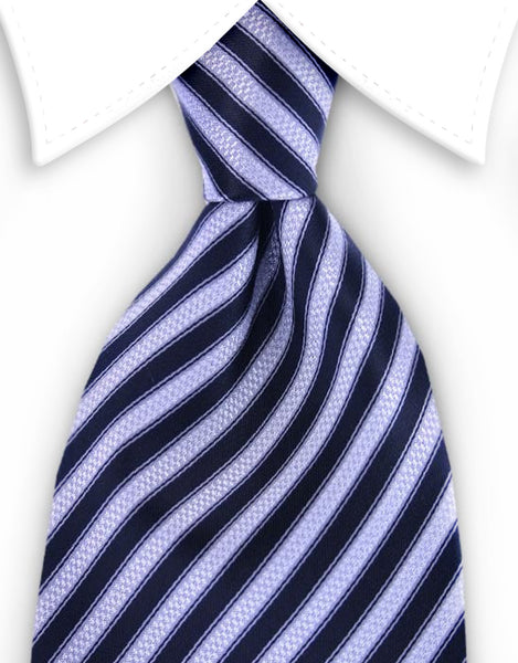 black and silver striped mens tie