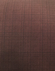 Espresso Brown Tie with Grid