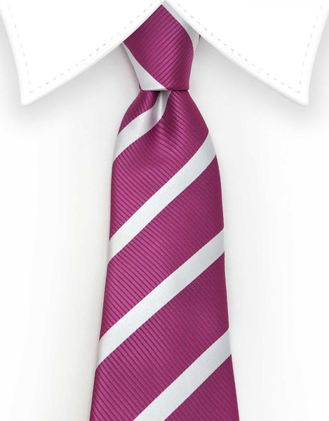 Extra Long Fuschia Mens Tie