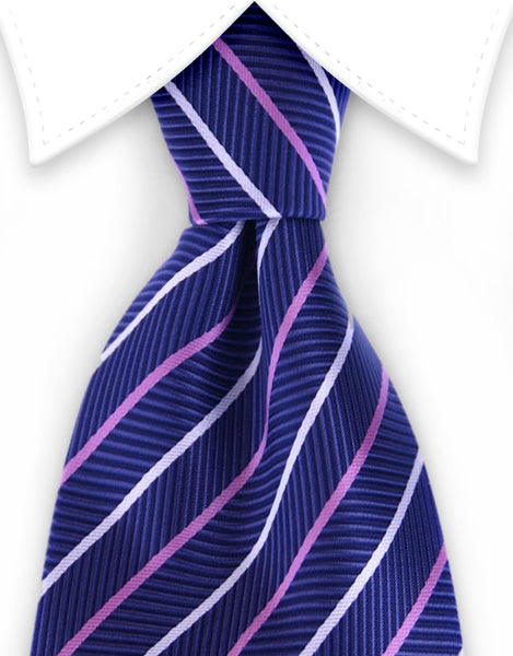 navy blue and pink ties