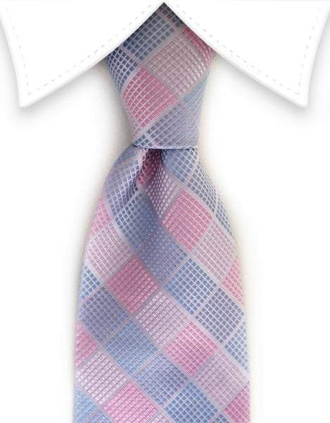 pastel blue and pink tie