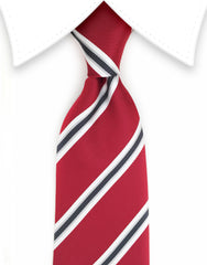 red and black repp striped tie