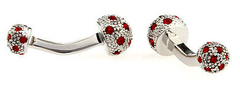 Red Jewel Ball Cufflinks