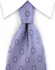 Silver and gray silk tie