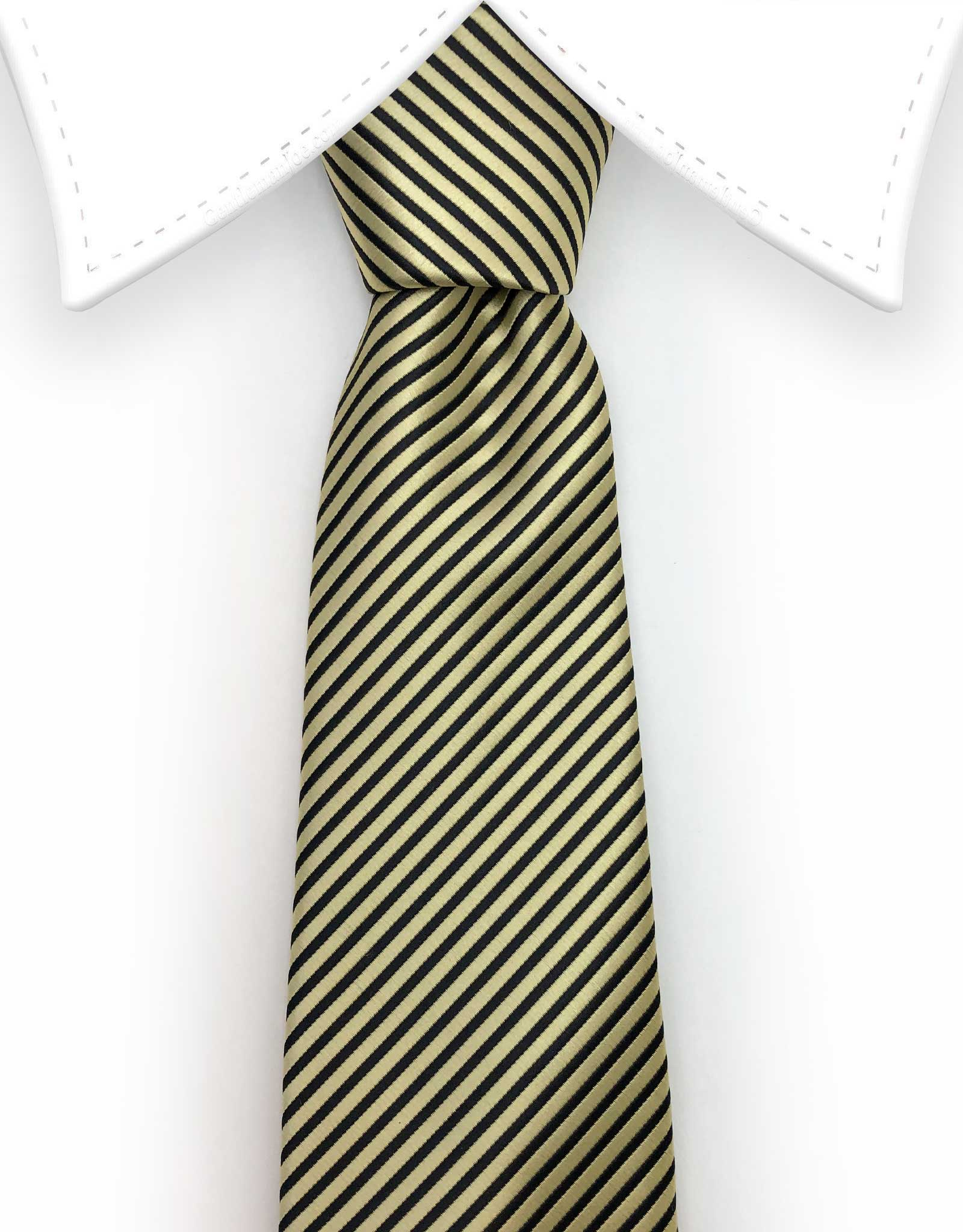 gold and black mens tie