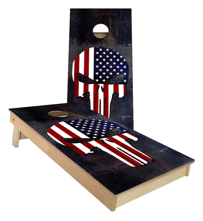 Punisher American Flag  Cornhole Boards