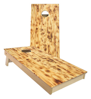Burnt Pine Wood Cornhole Boards