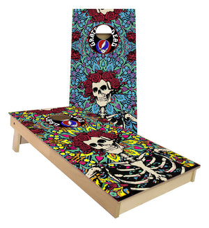 Grateful Dead skeleton cornhole boards