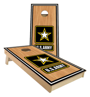 US Army stained wood Cornhole Boards