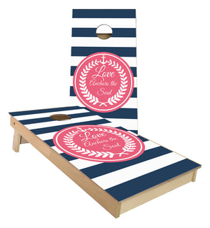 Anchors the Soul Wedding cornhole boards