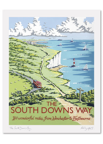 South Downs Way Signed Print