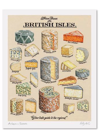 Artisan Cheeses Signed Print