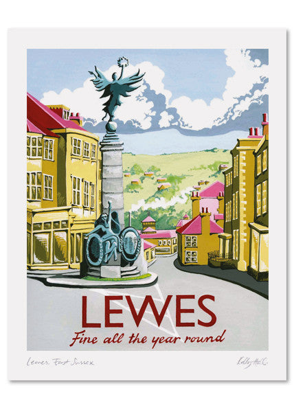 Lewes Signed Print