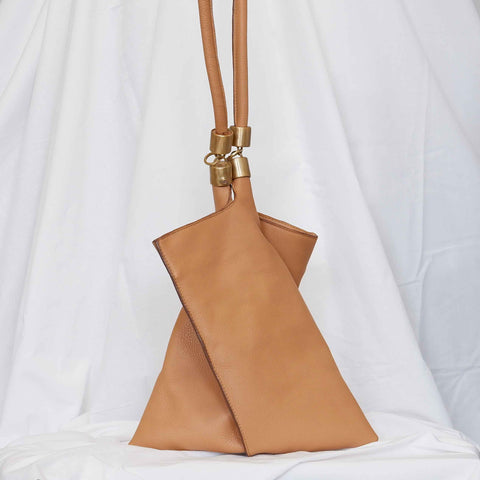 Calf Hair Clutch in Marigold