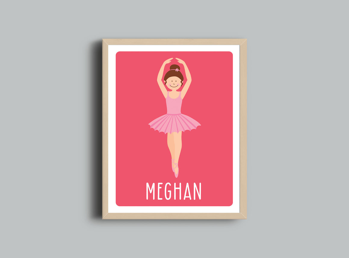 Personalized Art Print - Ballerina - Nursery Wall Art - The Imagination Spot - 1