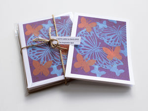 Butterfly Note Card Set - Linocut - Handmade Cards - The Imagination Spot - 3