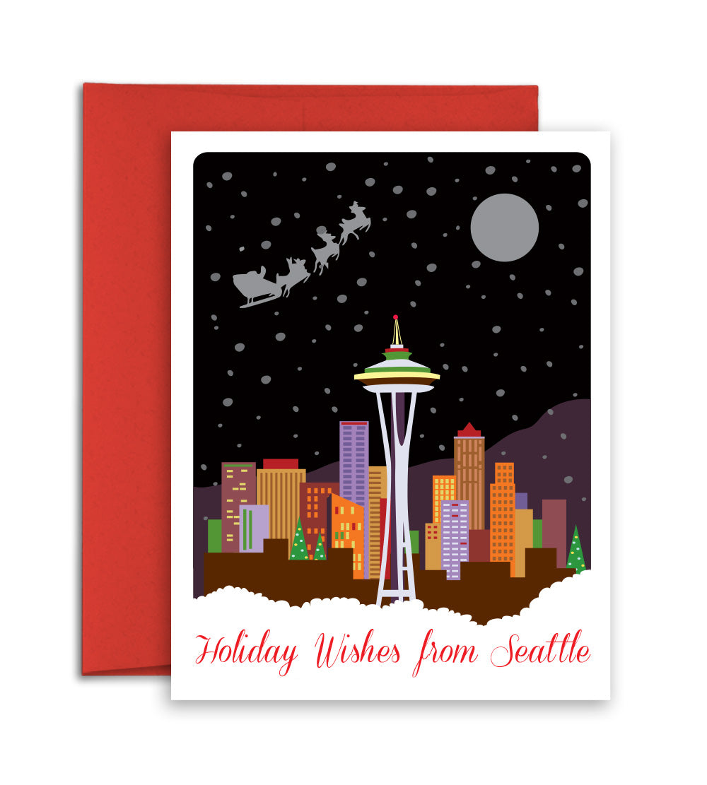 Seattle city Christmas card